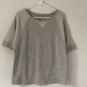 Calvin Klein Cream/Gray Short Sleeve Sweatshirt